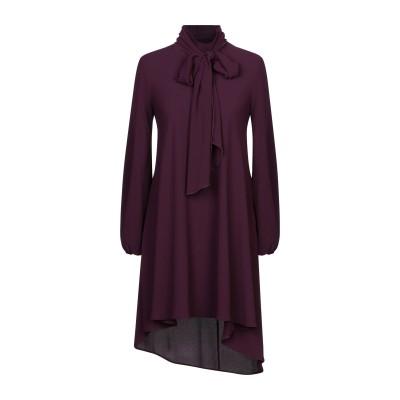 VAPOFORNO MILANO ミニワンピース&ドレス ディープパープル M ポリエステル 100% ミニワンピース&ドレス