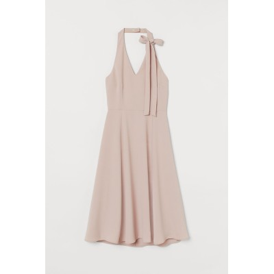 H&M - ホルターネックワンピース - ピンク