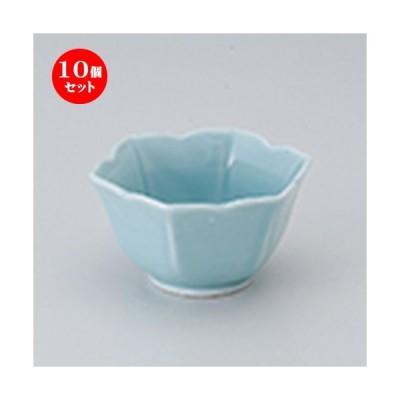 10個セット 小付 桔梗小付ブルー [ 8.5 x 7.5 x 4.5cm ] 【 料亭 旅館 和食器 飲食店 業務用 】