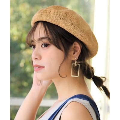 14+(ICHIYON PLUS) / ペーパーサーモベレー帽 WOMEN 帽子 > ハンチング/ベレー帽