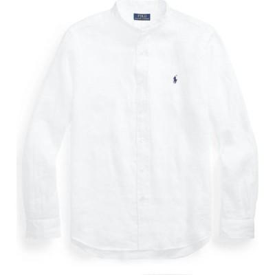 ラルフ ローレン POLO RALPH LAUREN メンズ シャツ トップス lined long sleeve shirt linen shirt White