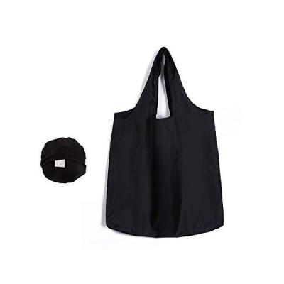 エコバッグ かんたんにたためる 折りたたみバッグ 防水 コンパクトに収納 エコバック コンビニ ショッピングバッグ コンビニ マイバッグ (黒)