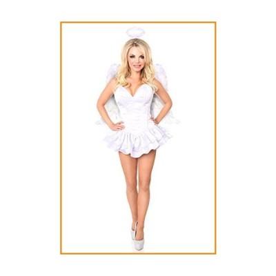 Daisy Corsets Women's Top Drawer Plus Size Innocent Angel Corset Dress Costume, White, 6X_並行輸入品