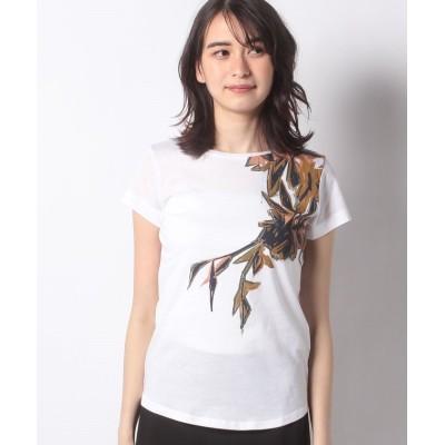 【シスレー】 サファリプリントTシャツ・カットソー レディース ホワイト S (国内M相当) SISLEY