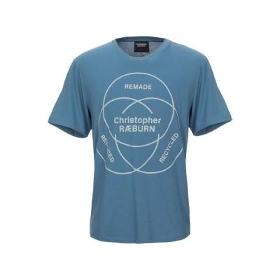 クリストファーレイバーン CHRISTOPHER RAEBURN  メンズ Tシャツ カットソー トップス ブルーグレー
