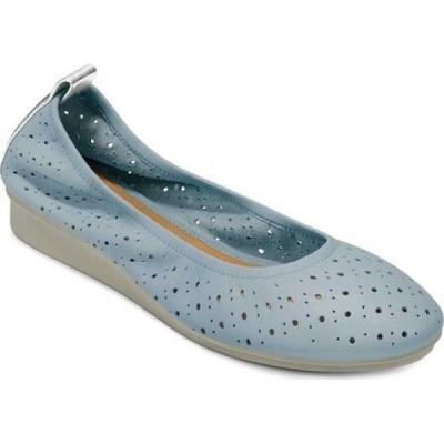エアロソールズ Aerosoles レディース スリッポン・フラット バレエシューズ シューズ・靴 Wooster Perforated Ballet Flat Riviera/Tin Lamba Leather