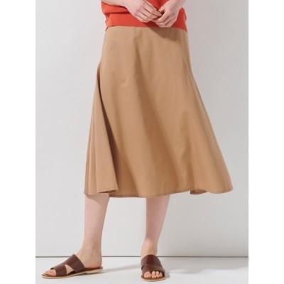 【大きいサイズ】【洗える】コットンシルクタイプライタースカート 大きいサイズ スカート レディース