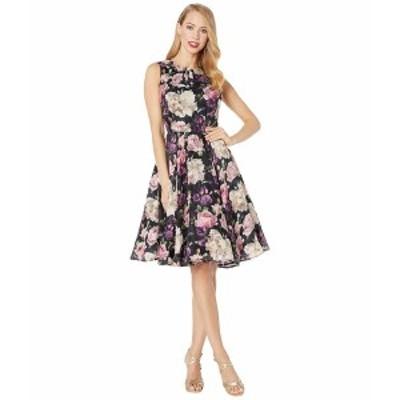 ユニークビンテージ レディース ワンピース トップス 1940s Floral Olson Swing Dress Black Floral
