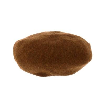ANAP ウールタッチベレー帽(ブラウン)