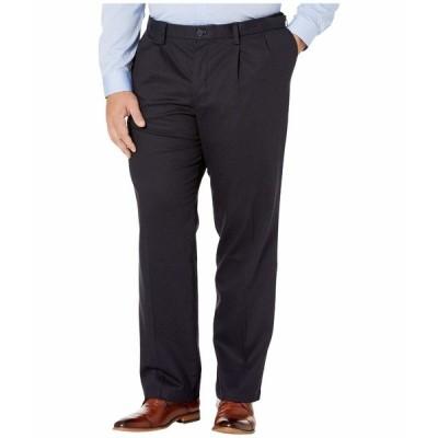 ドッカーズ カジュアルパンツ ボトムス メンズ Big & Tall Classic Fit Signature Khaki Lux Cotton Stretch Pants - Pleated Dockers Navy
