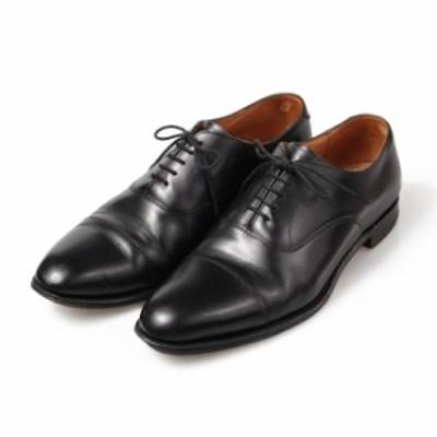 チーニー CHEANEY ストレートチップ UK8.5F ブラック カーフ イギリス製 メンズ 靴 革靴 紳士靴 【中古】