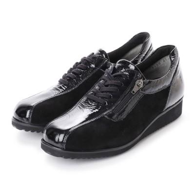 フルヤ FURUYA FURUYAコンフォートシューズ(5E)靴ひもデザイン (ブラック)