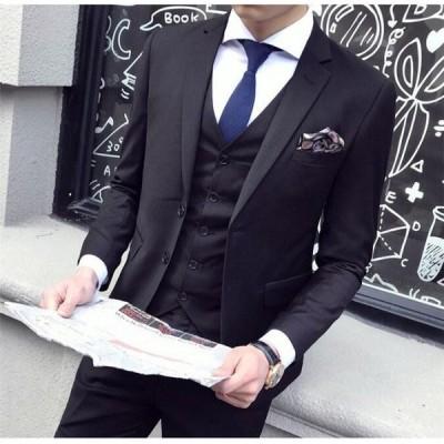3点 ジャケット&ズボン&ベスト 通勤 OL オフィス 就活 旅行 デート 韓国風 学生 細身 入学式 卒業式 入園式 卒園式 ビジネス 結婚式 宴会