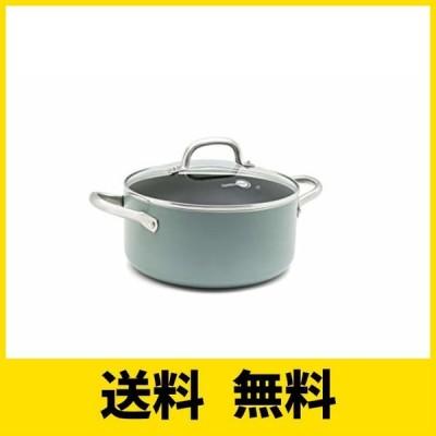 グリーンパン 両手 鍋 キャセロール IH対応 20cm 蓋付 セラミック こびり付きにくい フッ素不使用 メイフラワー CC002177-001