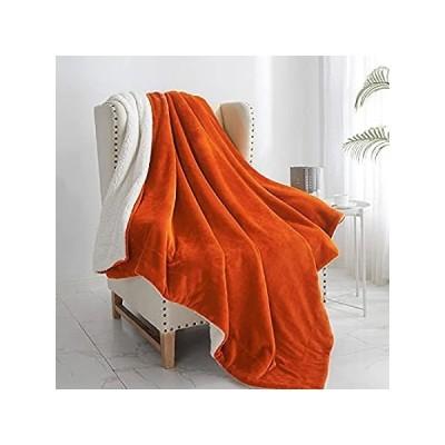 特別価格Walensee シェルパブランケット (スローサイズ 60インチx80インチ オレンジ) スーパーソフトフリースプラッシュブランケット ベッド、カウ好評販売中