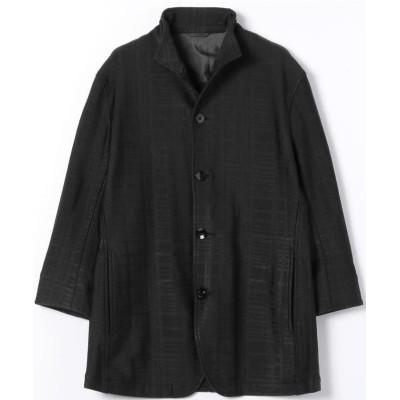 【ハイダウェイニコル】 スタンドカラー7分袖ジャケット メンズ 49ブラック 46(M) HIDEAWAYS NICOLE