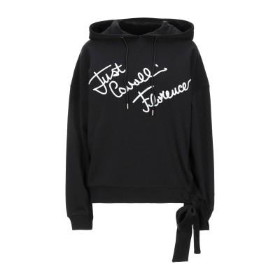 ジャストカヴァリ JUST CAVALLI スウェットシャツ ブラック XS コットン 100% / ポリウレタン / ポリエステル スウェットシャツ
