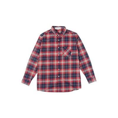 カジュアル シャツ Poler Long Sleeve Shirt (ネイビー Plaid, M) メンズ ユニセックス Flannel