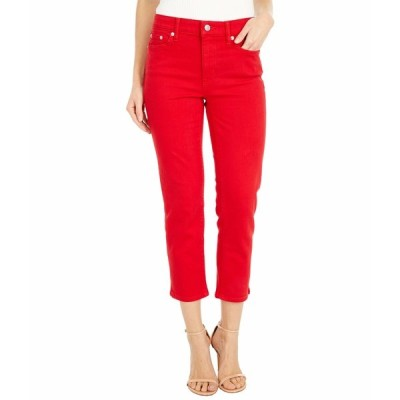 ラルフローレン デニムパンツ ボトムス レディース Premier Straight Crop Jeans in Bold Red Wash Bold Red Wash
