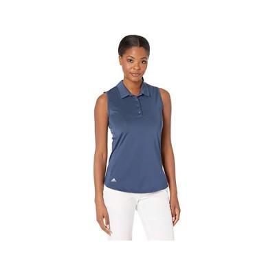 (取寄)アディダス スリーブレス ポロ シャツ adidas Golf Ultimate365 Primegreen Sleeveless Polo Shirt Navy