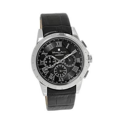 [サルバトーレマーラ]腕時計 ウォッチ 電波ソーラー クロノグラフ 限定モデル イタリアブランド ブラック×シルバー メンズ