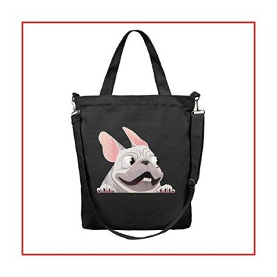 HULOSHIKDL French Bulldog When in Car Practical Canvas Multifunctional Reusable Single Shoulder Tote Bag【並行輸入品】