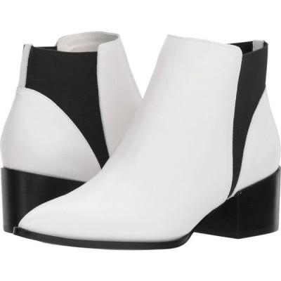 チャイニーズランドリー Chinese Laundry レディース ブーツ シューズ・靴 Finn Bootie White Smooth Leather