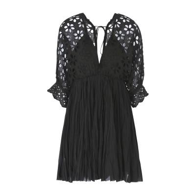 FREE PEOPLE ミニワンピース&ドレス ブラック L コットン 100% ミニワンピース&ドレス