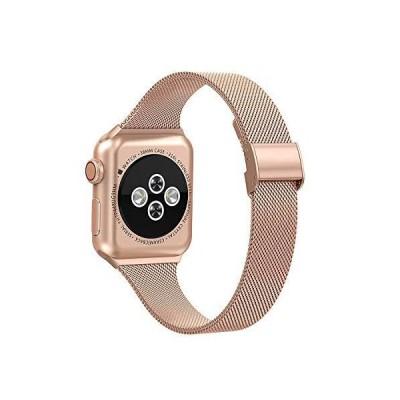 Apple Watchバンド38mm、40mm、42mm、44mm、ステンレススチールリストバンドループ交換バンド、Iwatchシリーズ5、4、3、2