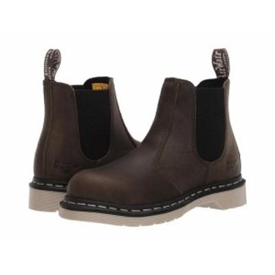 ドクターマーチン レディース ブーツ・レインブーツ シューズ Arbor Steel Toe Chelsea Boot Olive Wyoming