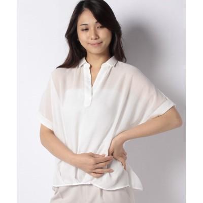 【インタープラネット】 エステルボイルスキッパーシャツ レディース ホワイト 002 INTERPLANET