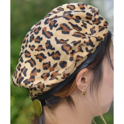 帽子 F&D : レオパードベレー帽