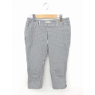 【中古】クリアインプレッション CLEAR IMPRESSION パンツ テーパード チェック ジップフライ 綿 2 黒 白 ブラック