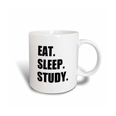 3dRose mug_180445_1 Eat Sleep Study Enthusiastic Student Gift Hardworking School Pupil Ceramic Mug, 11-Ounce【並行輸入品】
