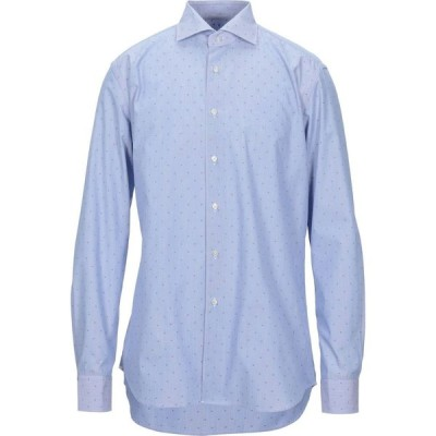 ザカス XACUS メンズ シャツ トップス patterned shirt Sky blue