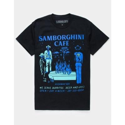 サンボルギーニ SAMBORGHINI メンズ Tシャツ トップス Sambo Cafe T-Shirt BLACK