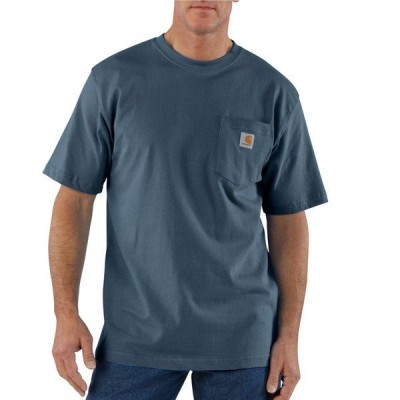 カーハート シャツ トップス メンズ Carhartt Men's K87 Short Sleeve Workwear Pocket T-shirt Bluestone