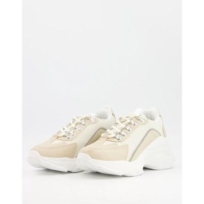 レイド Raid レディース スニーカー シューズ・靴 RAID Verona chunky trainers in beige ベージュ