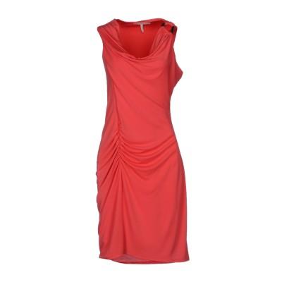 ホルストン・ヘリテージ HALSTON ミニワンピース&ドレス コーラル M ポリエステル 93% / スパンデックス 7% ミニワンピース&ドレス