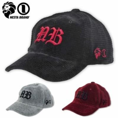 ネスタブランド コーデュロイ キャップ メンズ 3D刺繍 193NB8702NESTA BRAND 【新品】19FW 帽子 ロゴ ストリート ファッション カジュア