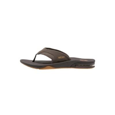 リーフ サンダル メンズ シューズ T-bar sandals - brown