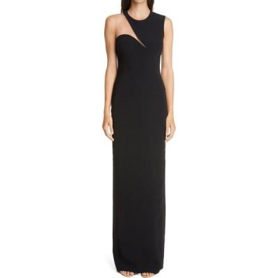 ステラ マッカートニー STELLA MCCARTNEY レディース パーティードレス ワンピース・ドレス Evelyn Cutout Column Gown Black