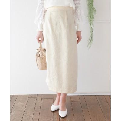 【ブルーイースト】 ジャガードタイトスカート レディース オフホワイト M(01) BLUEEAST