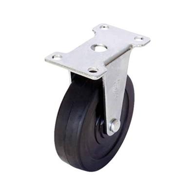 ユーエイキャスター:Eシリーズ ER型 固定キャスター ゴム車 車輪径φ75 メーカー型式:ER-75RH