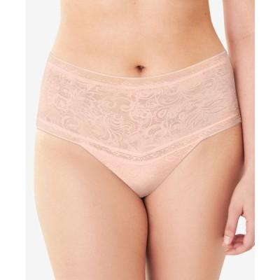 メイデンフォーム Maidenform レディース ショーツのみ インナー・下着 Smoothing High-Waist Thong Underwear #DMTSTG Sheer Pale Pink