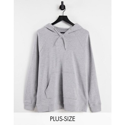 シンプリー ビー レディース パーカー・スウェット アウター Simply Be oversized hoodie in gray