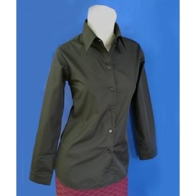 小さいサイズの ブラック長袖シャツ w272478 【S】5号小さいサイズ・レディース