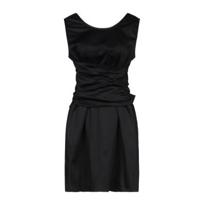 JE SUIS LE FLEUR ミニワンピース&ドレス ブラック 44 コットン 97% / ポリウレタン 3% ミニワンピース&ドレス