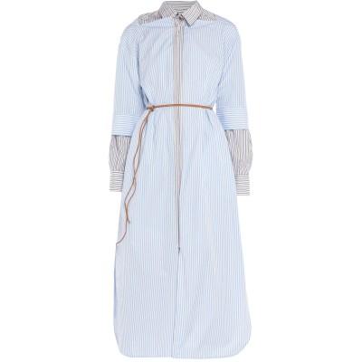 マルニ MARNI ロングワンピース&ドレス スカイブルー 48 コットン 100% ロングワンピース&ドレス