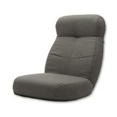 座椅子 幅62cm リクライング 14段階 座いす 折り畳み 折りたたみ ヘッドレスト グレー